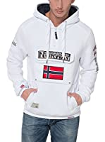 Geographical Norway Sudadera con Capucha Sweat (Blanco)