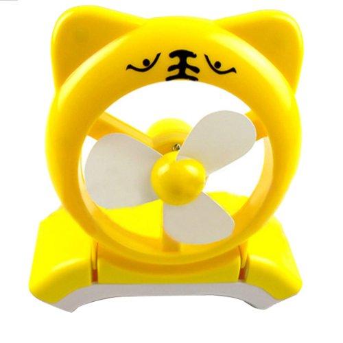 4 Color Cartoon Tiger Mini Fan