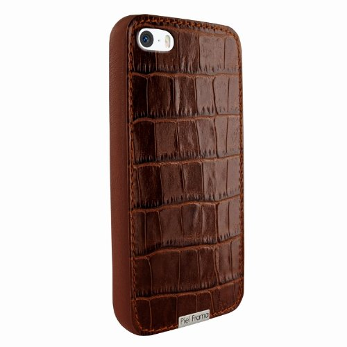 Special Sale Apple iPhone 5 / 5S Piel Frama Brown Crocodile FramaGrip Leather Cover
