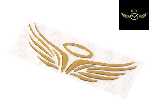 tinxi® 3D Auto Aufkleber Engel Flügel / Teufel Dvil Emblem für VW Benz BMW OPEL u.s.w. in verschiedenen Farben (goldglanz Engel Flügel)