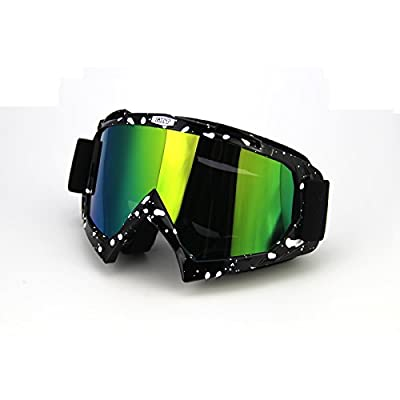SZMWL PU Resin Windproof Dustproof Distortion-Resistant Scratch Resistant Motocross Dirt Bike Wrap Goggles Ski Goggles Protective Safety Glasses