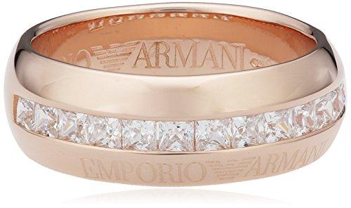 Emporio Armani Damen-Ring Silber vergoldet teilvergoldet Zirkonia weiß Gr. 50 (15.9) - EG3159221-5.5