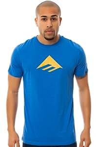 Emerica T-shirt Triangle 7.0 pour homme Bleu Bleu roi Small