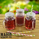 Set of 4 Mason Glass Drinking Jars wi...