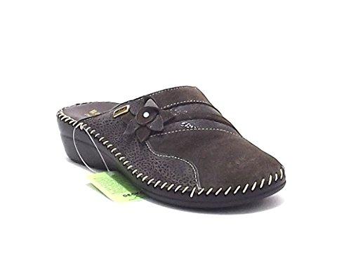 Scarpa donna Susimoda, 6510, pantofola donna Susimoda in camoscio e pelle stampa, colore beige
