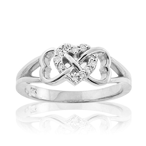Solid-10k-White-Gold-Diamond-Triple-Heart-Infinity-Ring