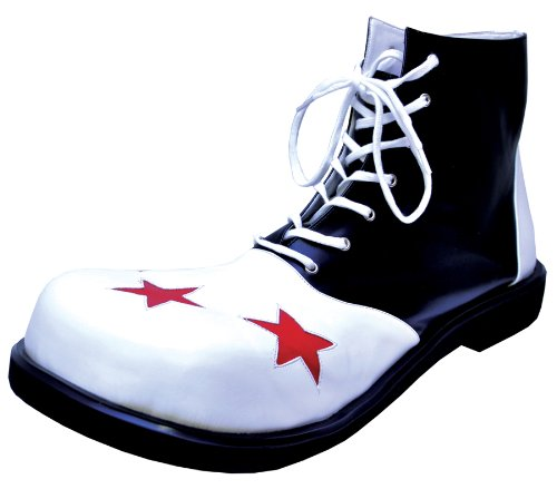 Costumes For All Occasions Ha60Bwlg Shoe Clown Wing B And W Men Lg