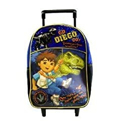 Nick Jr. Go Diego Go 12&quot; Toddler Rolling Backpack - Dinosaur