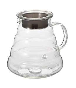 Hario V60 Range Coffee Server, 800ml, Clear by Hario