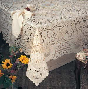 Embroidery and Cutwork Tablecloth & Napkin Set 65