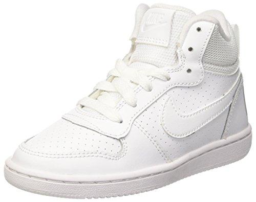 Nike Court Borough Mid Ps, Scarpe da Basketball Bambini e Ragazzi, Bianco, 33 EU