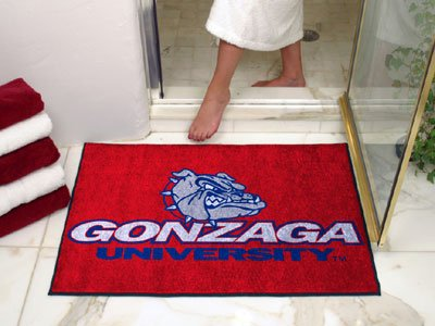 NCAA Gonzaga Bulldogs Chromo Jet Printed Rectangular Area Rug Floor Mat 45