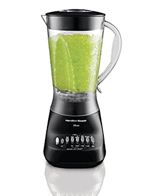 Hamilton Beach Wave Maker 10-Speed 450-watt Blender with 56 oz Jar, Black (50163)