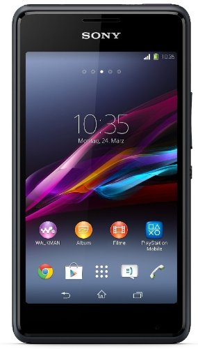 Sony Xperia E1 Smartphone (10,2 cm (4 Zoll) TFT-Display, 1,2GHz Dual-Core, 3 Megapixel Kamera, Android 4.3) schwarz