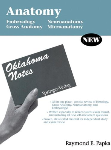 Anatomy: Embryology - Gross Anatomy - Neuroanatomy - Microanatomy (Oklahoma Notes)