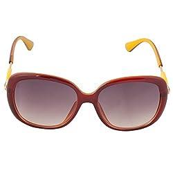 Eyeland Non-Polarized Oversized Sunglasses (Brown, EYE232)