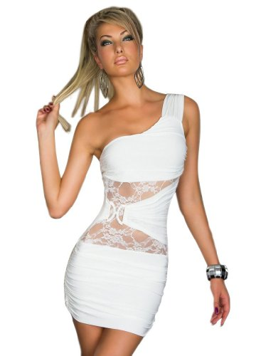 Sexy Mini Slim Dress Clubwear Party Sleeveless Floral Hollow Lace White