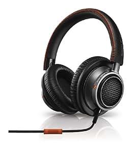 Philips Fidelio Casque Audio Hi-Res L2BO/00 Noir/Orange avec fonction prise d'appel et micro pour téléphone mobile