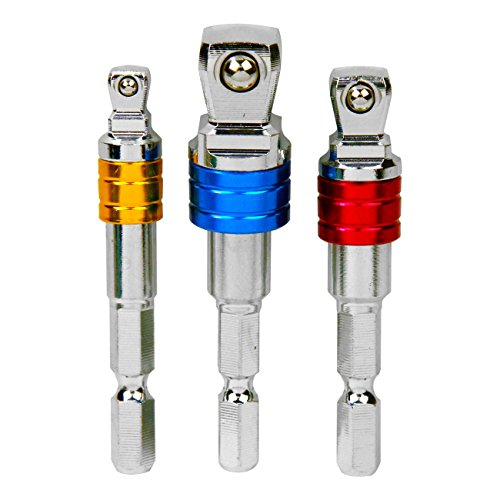 SK11(エスケー11) 2WAYフレックスソケットアダプターセット 差込角 1/4 (6.35mm) 3/8 (9.5mm) 1/2 (12.7mm) ESA-3F