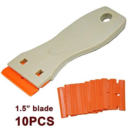 Ehdis-15-ad-alta-visibilit-Mini-rasoio-di-plastica-doppio-taglio-lama-raschiante-con-10pcs-plastica-raschietto-rasoio-Lame-per-raschiare-etichette-e-decalcomanie-da-Glass-Parabrezza