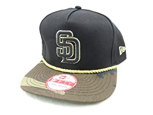 New Era Hidden Metallic 9FIFTY Snapback Hat San Diego Padres Black  Woodcamo by New Era