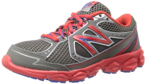 New Balance Kj750 Youth Lace-Up Running Shoe (Toddler/Little Kid/Big Kid),Grey/Red,1.5 W Us Little Kid front-966665