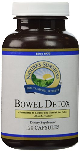 NATURE'S SUNSHINE Bowel Detox Capsules, 120 Count