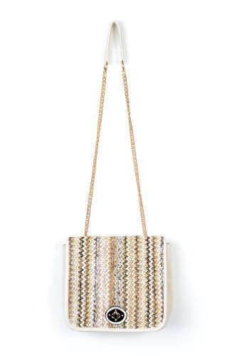 Woven for You Purse in Beige