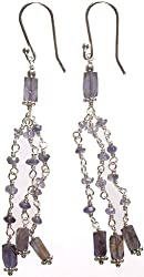 Exotic India Iolite Shower - Sterling Silver