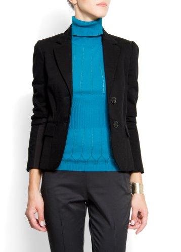Mango+Women%27s+Suit+Cotton5%2C+L%2C+Black