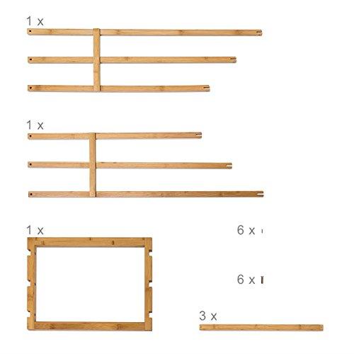 bambus handtuchhalter 40 x 24 5 x 82 cm handtuchst nder handtuchstangen badetuchhalter stummer. Black Bedroom Furniture Sets. Home Design Ideas