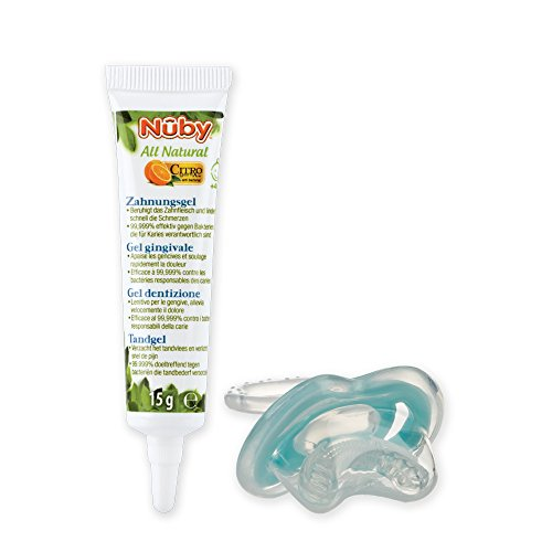 Nuby CG23015 All Natural Kombipack - Zahnungsgel und Zahnungshilfe