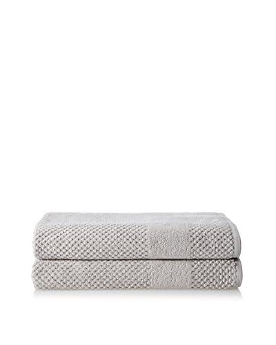 Chortex Set of 2 Honeycomb Bath Sheets, Silver