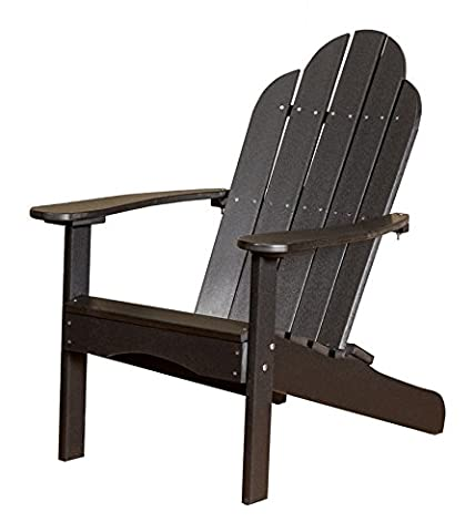 Little Cottage Company LCC-214 Classic Adirondack Chair, Black - Classic Collection Adirondack Deck Chair
