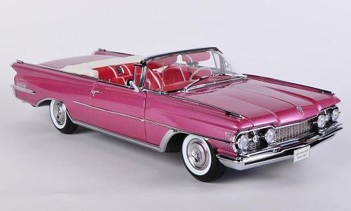 Oldsmobile 98 Convertible, met.-dkl.-rosa , 1959, Modellauto, Fertigmodell, Sun Star 1:18