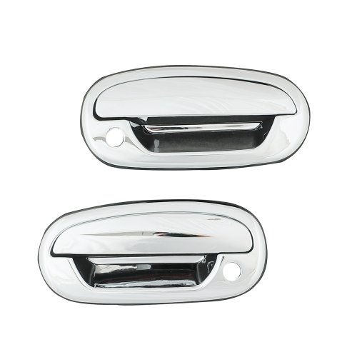 E-Autogrilles Triple Chrome Plated ABS Door Handle Covers for 97-03 Ford F-150 / 04 Ford F-150 Heritage (64-0300) (1998 Ford F 150 Accessories compare prices)