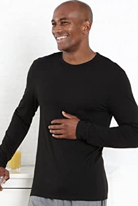 2 Pack - Lightweight Long Sleeve Crew Neck Thermal Vest