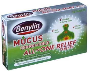 Benylin Mucus Cough & Cold All in One Relief 16 tab