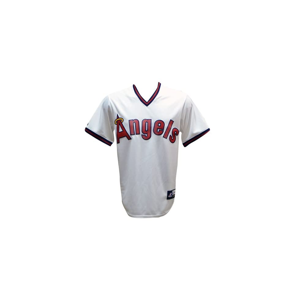 California Angels Mike Trout Majestic Cooperstown Replica Jersey (L) Clothing