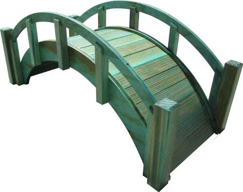 SamsGazebos Decorative Japanese Wood Garden Bridge, 25