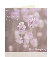 Purple Flowers Sympathy Card