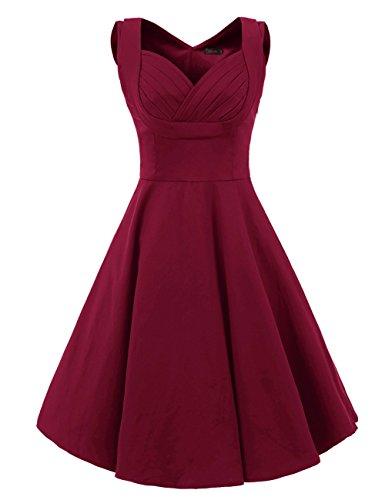 vogtage 1950s 34 sleeve wave point retro vintage dress