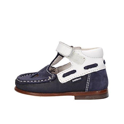 BALDUCCI sandali bambino blu pelle scamosciata bianco pelle AF354 (18 EU)