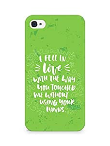 Amez I fell in Love with You Back Cover For Apple iPhone 4
