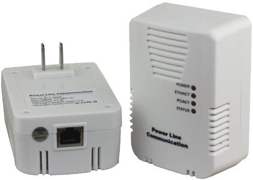 200 Mbps Powerline Av Ethernet Adapter Starter Kit Plc200M, Color White