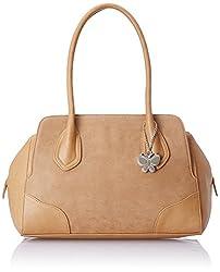 Butterflies Women's  Handbag (Beige) (BNS 0562BG)