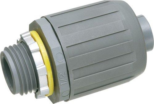 Arlington NMLT7-10 SNAP2IT Straight Connector for Liquid-Tight Conduit, Push-On Installation, 3/4-Inch, Non-Metallic, 10-Pack