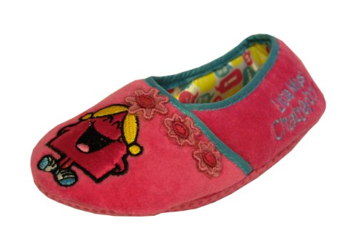 Girls Pink Little Miss Chatterbox Slippers Size 12 Infant Kids Style 014