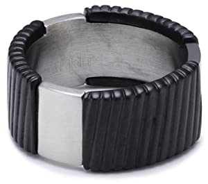 Esprit Flush S.ESRG11375A190 Ring Stainless Steel Black Size S