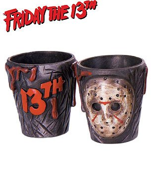 Friday the 13th Jason Voorhees Shot Glass Shotglass